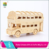 Craft gifts car puzzle Toy , 3d wooden puzzle car model DIY ,wooden model car for Home Decor or Gift