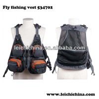 Excellent waterproof fly fishing mesh multi pocket fishing vest