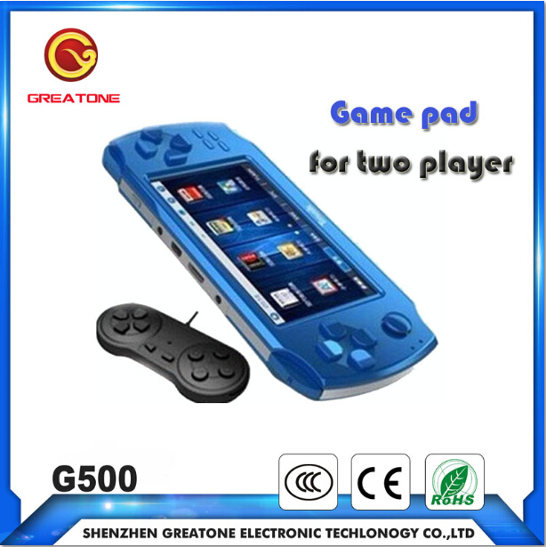 china wholesale handheld video game console for two player with gamepad removable battery change battery game console 4.3inch