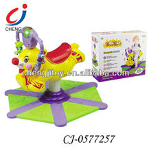 Squirrel shape swing and bouncing wholesale ride on battery operated kids baby car with light and music