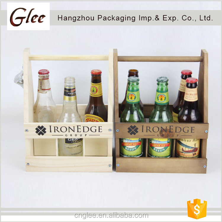 Customize wooden crate for beer