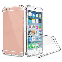 Airbag Design Shockproof Transparent TPU Cell Phone Case 4.7/5.5 inch mobile phone cases For iphone 6s