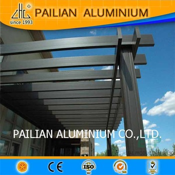 Extrusion aluminum awning material,wood <strong>grain</strong> for awnings, for glass roof