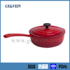 Hot sale cast iron enamel saucepan with lid