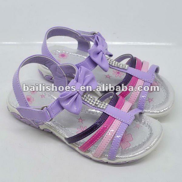 Kids Sandle/Children Shoes/Lovely Girls Flat Sandle Shoes With Bow/Footwear