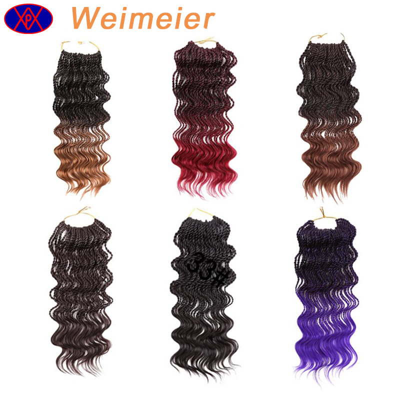 2017 best selling hair products water wave synthetic twist braid crochet hair extension