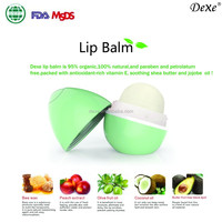 organic smooth sphere lip balm with fruit flavors