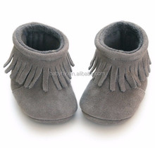 winter boots soft leather for boy and girl baby boot shoes