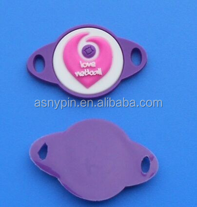 custom raise logo shoe accessories shoes buckle for kids, silicone pvc shoe lace charm
