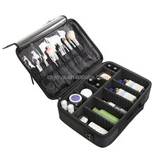 Professional Black Cosmetic Carrying Case / Makeup Travel Bag