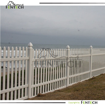 top quality white color seaside PVC fence never rust