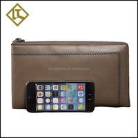 Best gifts for men decoration crust leather cell phone wallet case,cute travel wallet