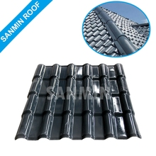 Low price plastic roof shingles for roof construction material