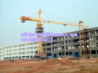 ISO approved Hongda Mobile Traveling Tower Crane QTZ40 Moving Tower Crane Price