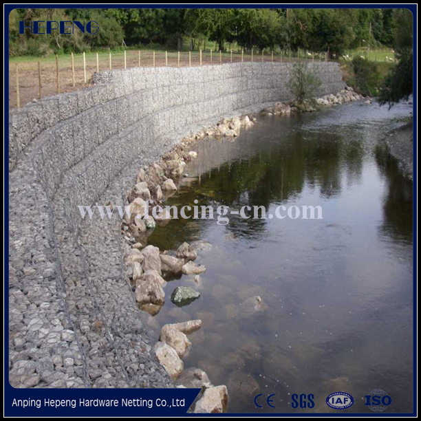 Hot dipped galvanized wire / galfan wire / Low-Carbon Iron Wire Material and Square Hole Shape pvc coated gabion wire mesh