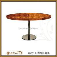 Latest wood top round restaurant table for sale