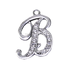 Initial Letter B Crystal Charm Custom Bracelet Jewelry Accessories