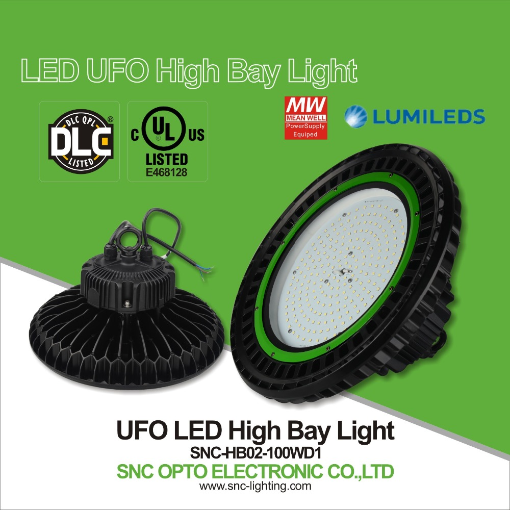 High quality UL DLC ufo led high bay lamp 100w led lamp lighting high bay in shenzhen