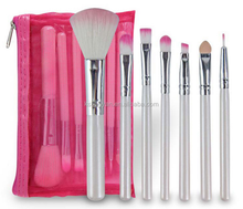 Pink Colour easy to carry 7pcs Makeup brush set for girls