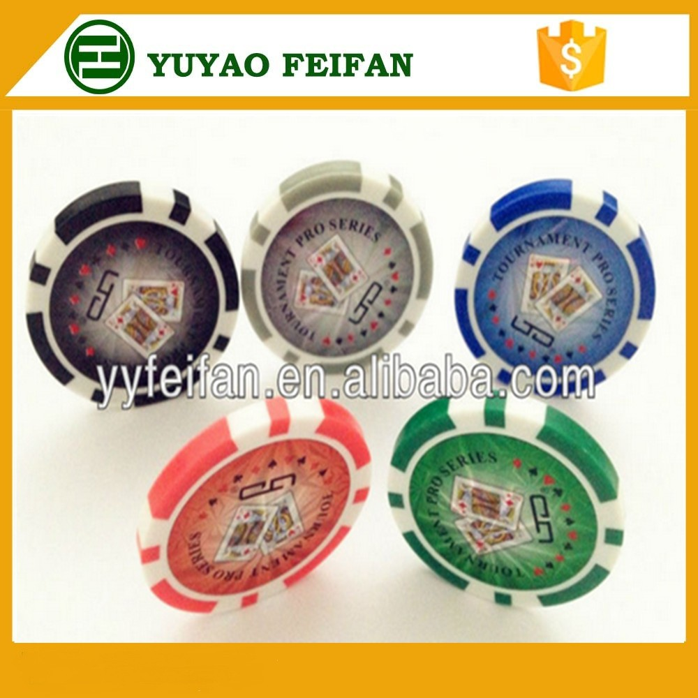 Custom poker chips with denominations