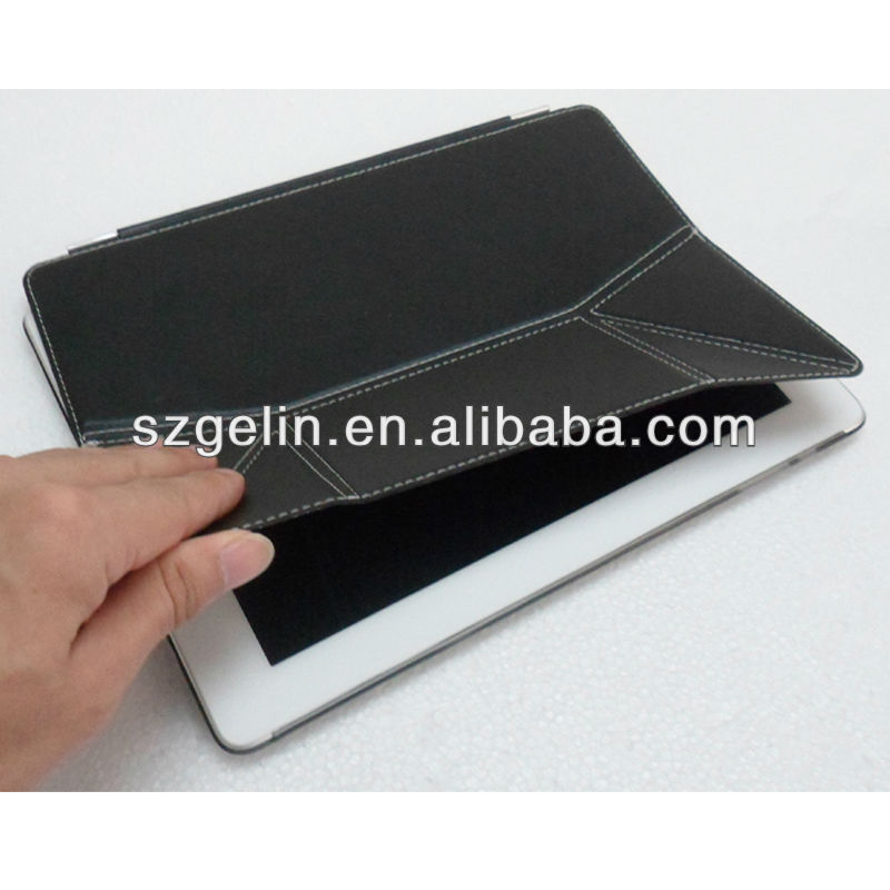 protective pu leather case for apple ipad 2
