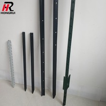 Cheap green paint used studded metal t farm fence posts for sale