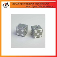 glossy polishing aluminum stainless steel dice CAD model making manufacturer