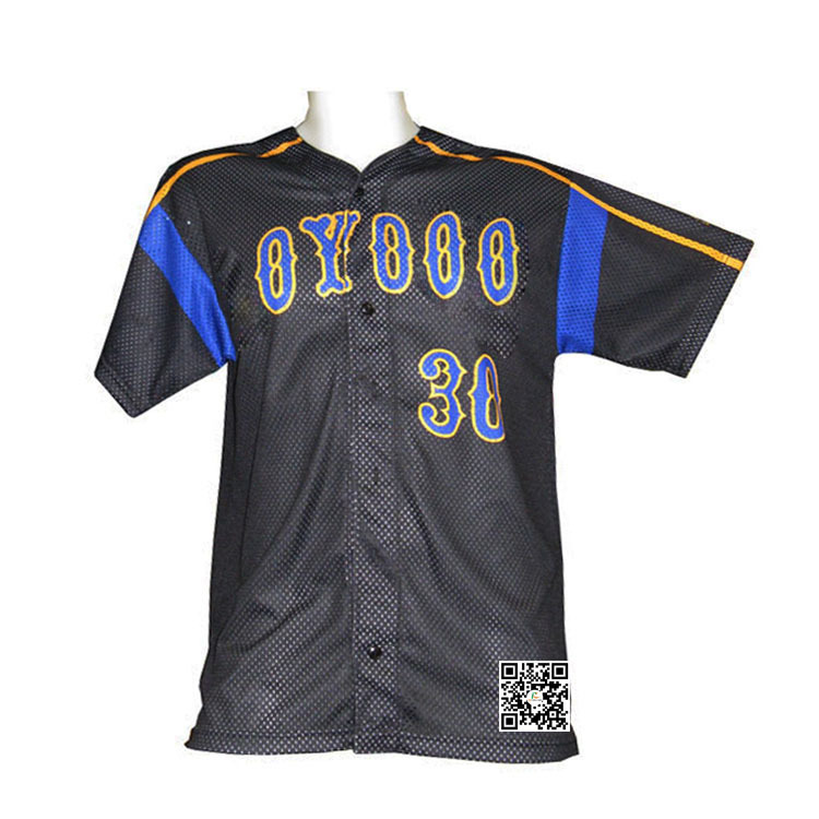 Custom Hot Sale Style Sublimated Polyester Breathable Baseball Jersey