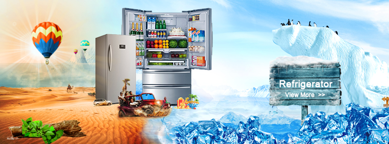 Home Kitchen Appliance No Frost French Door Stainless Steel Compressor Refrigerator
