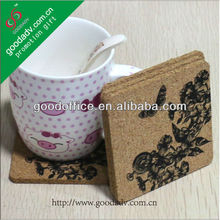 Wholesale custom logo printed cork coaster / cork pad/ cork mats