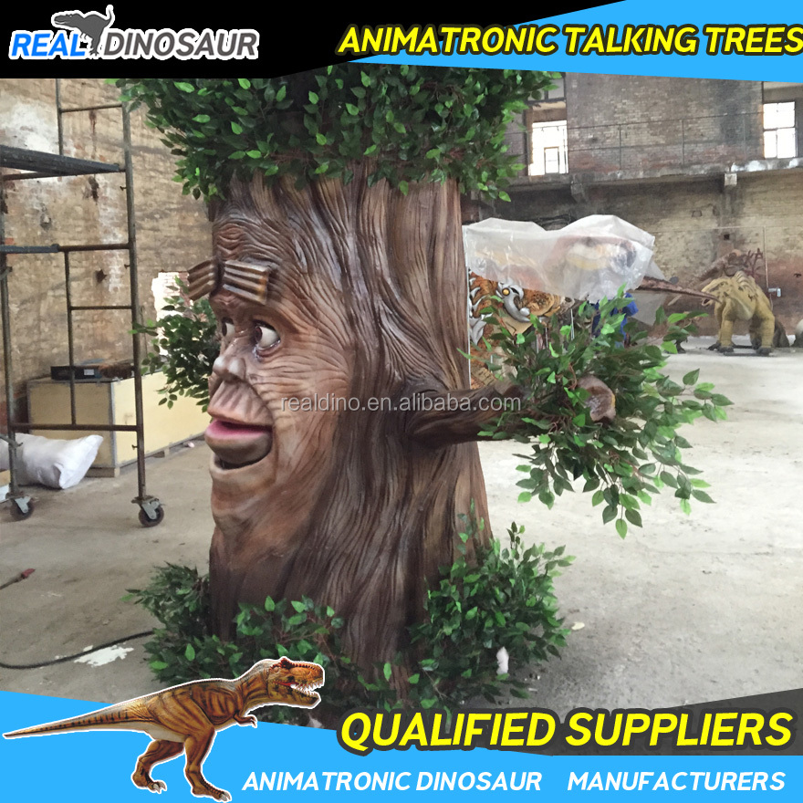 Amusemet Park Animatronic Talking Tree with Human Face