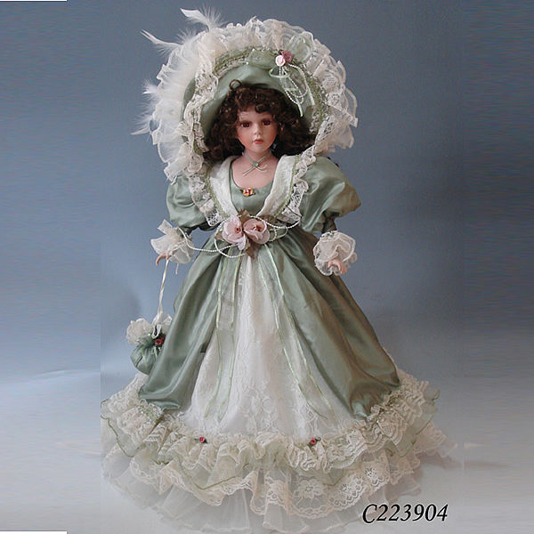 22inches Fashion Design Christmas Decorations Victorian Porcelain Dolls