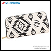 New Fashion Black White Wallet With Single Zipper Canvas Ladies Wallets