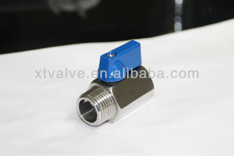 "Stainless Steel Mini Ball Valve , SS316, 1/4"" Size, M/F"
