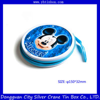 Beautiful Round CD DVD Case/ Round Tin Box
