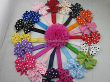 "New Design 3"" Grosgrain Ribbon Polka Dots Bows Headband Hairband Kids' Hair Accessories Children Accessories"