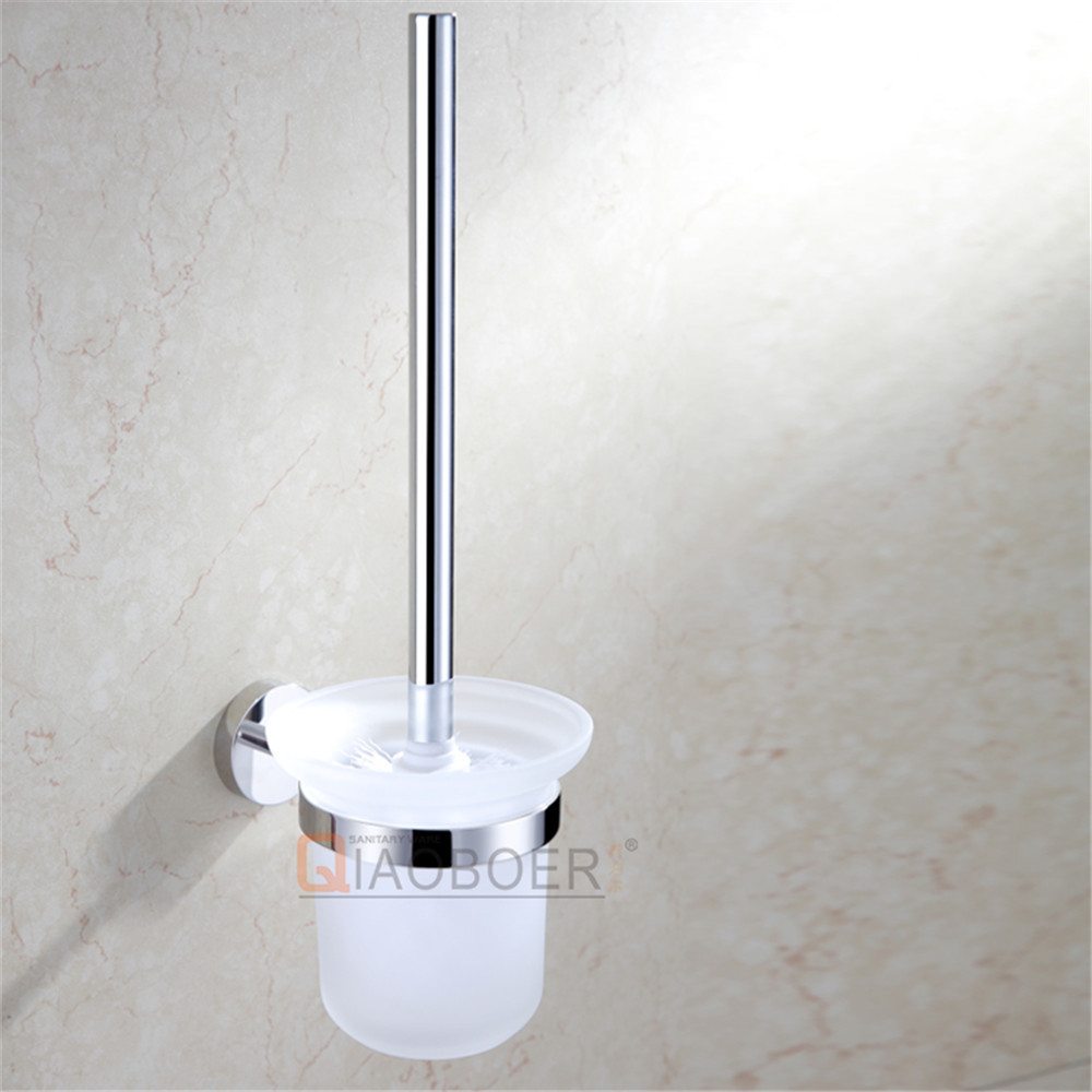 Hot sale chrome toilet brush with holder, toilet cup, decorative toilet brush holder