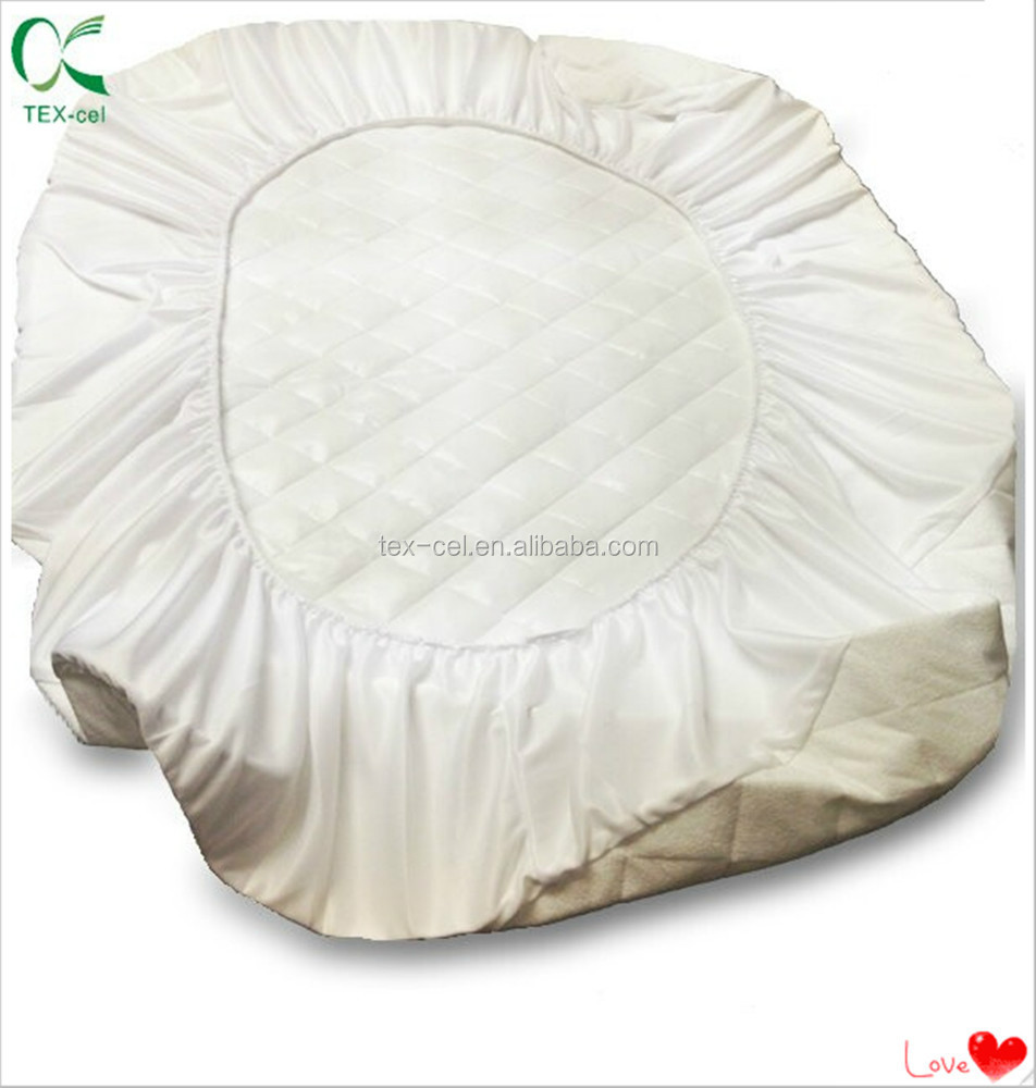 Organic Cotton Quilted Pack n Play Size Fitted Mattress Pad Cover Natural