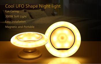 360 degree Rotating Body sensor detector led ufo sensor night light step light room light
