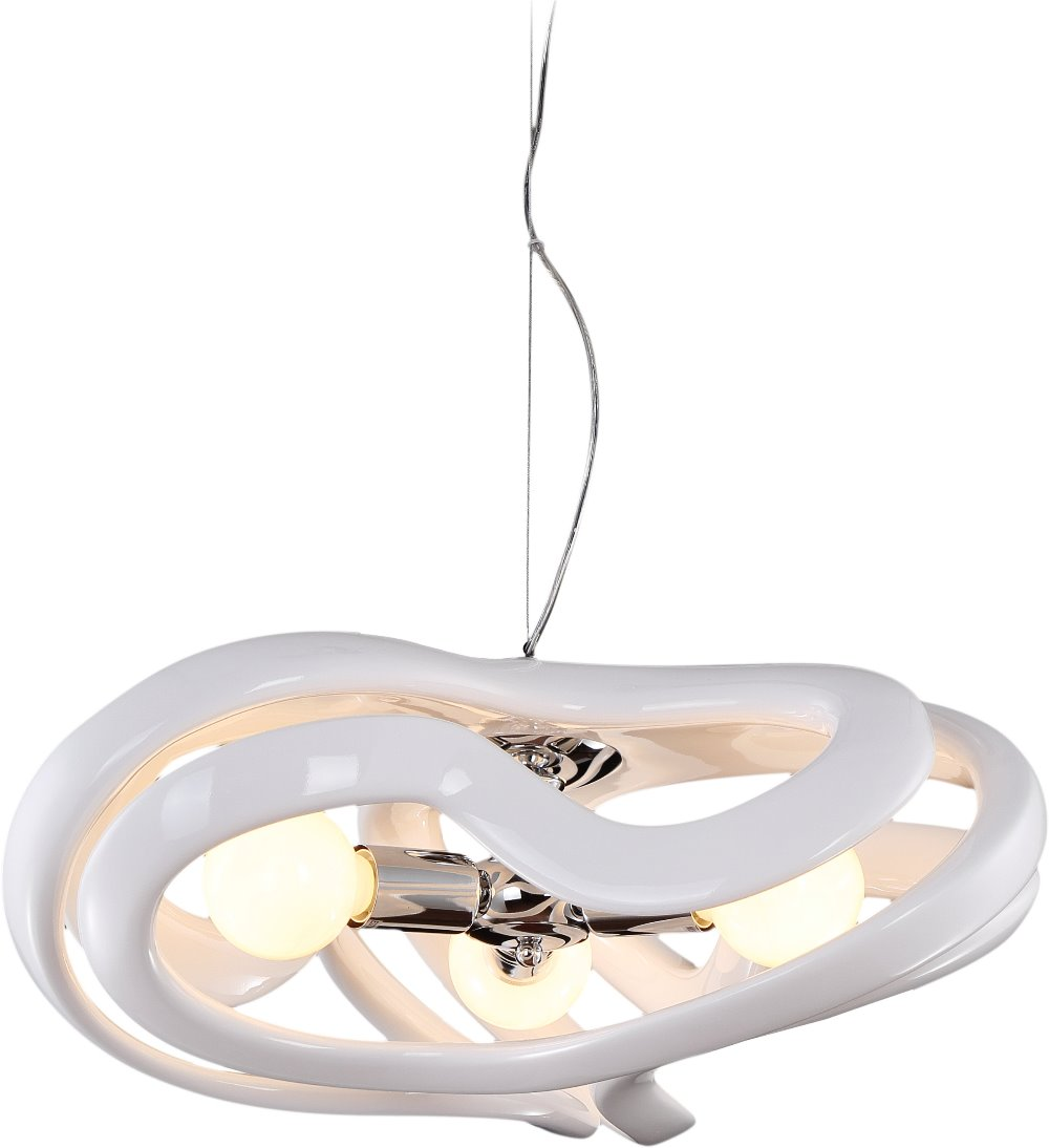 White/black/red Color E27 Led Bulb Fiber Glass Pendant Light
