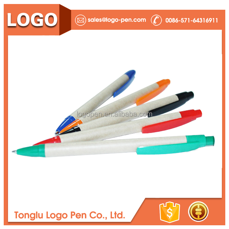 wholesale making kits style customized paper recycled ECO ball pen