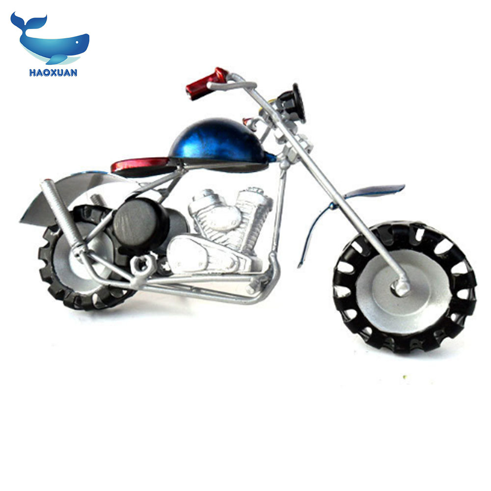 New metal crafts High-grade fine painting painted motorcycle model