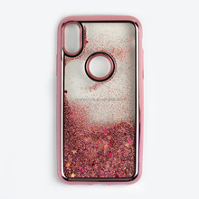 Hot Bling Electroplating Plastic Tpu Protective Phone Case For Iphone 7 Plus Liquid Glitter Case For Iphone 8
