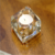 Transparent round crystal glass candle holders