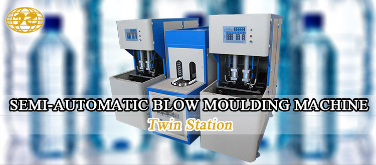 hot sale Semi automatic low price twin station mini pet water plastic bottle blowing moulding machine price
