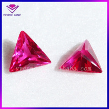 Synthetic Fusion Corundum Triangle Shape Machine Cut Ruby Gemstone