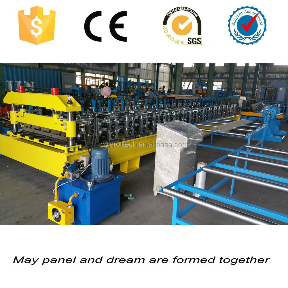 Good outlook good quality steel roofing sheet profiling roll forming machine