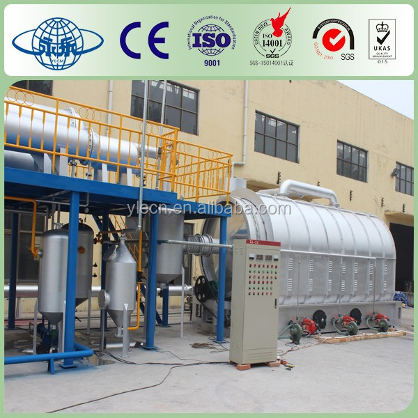 Yongle Huayin waste plastic recycling to fuel oil plant