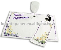 Printed Napkin and Cutlery Paper Pocket