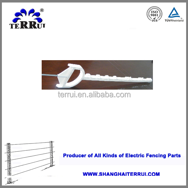 Electric fence plastic post